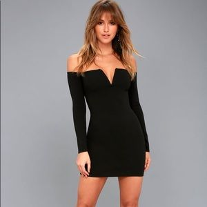 "Lulu's ""Over the swoon"" Black Bodycon"